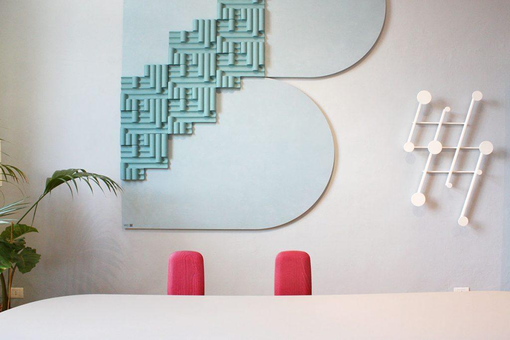 archiproducts open house 2018 dante+cedit tavolo con sedie rosa