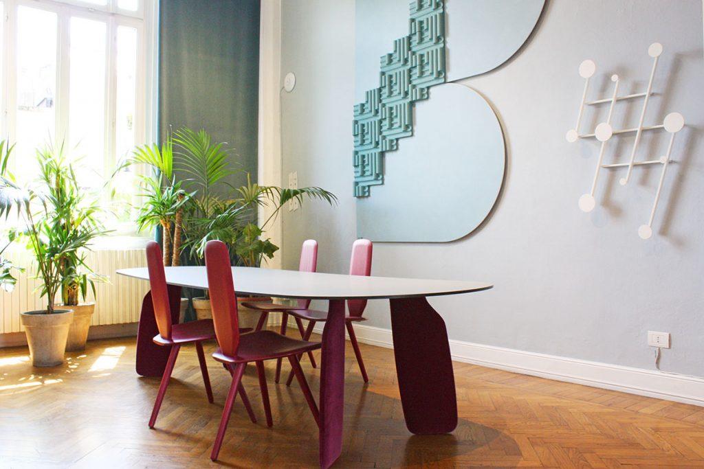 archiproducts open house 2018 dante + cedit tavolo soggiorno