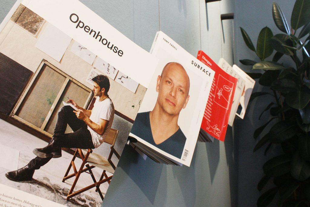 Archiproducts open house 2018 tujague + desalto dettaglio giornali