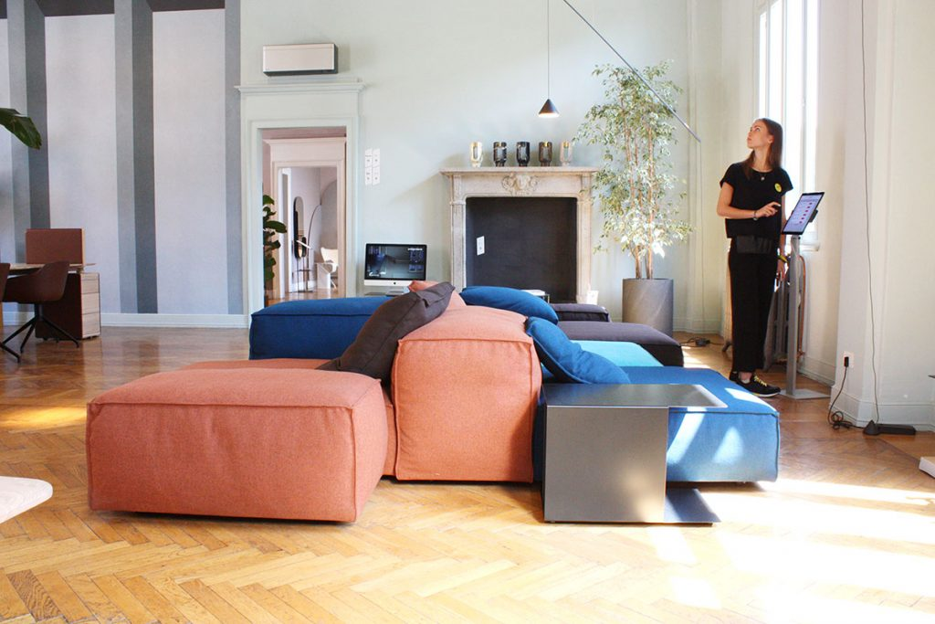 archiproducts open house 2018 divano componibile