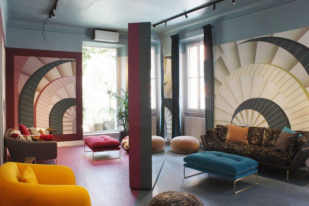 archiproducts open house allestimento saba stile floreale