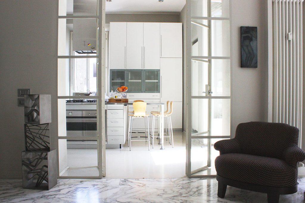 open house 2018 casa barre cucina porta in vetro